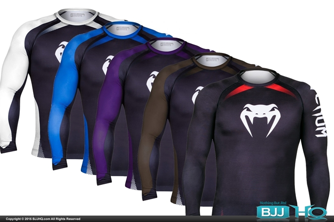 Venum No Gi IBJJF Approved Ranked Rashguards